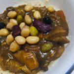 チキンカレー&5種のサラダ豆