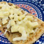 オートミールで3種のチーズはちみつピザ風